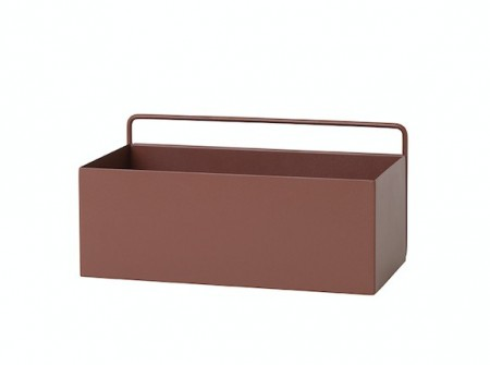 Ferm Living - Wall Box / Red Brown / Rectangle