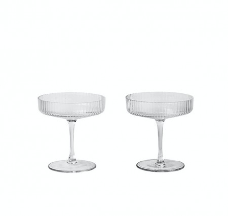 Ferm Living - Ripple Champagne Saucer x2