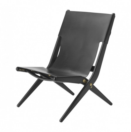 By Lassen - Saxe Chair / Blackstained Oak/black Leather