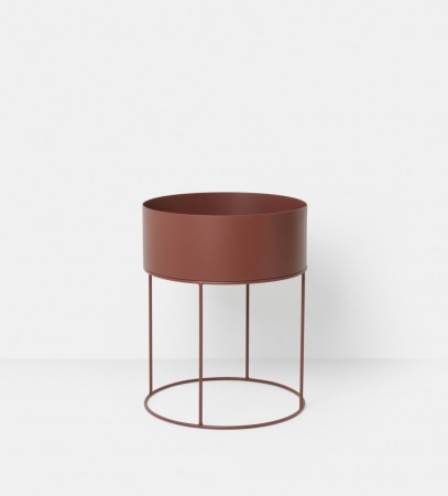 Ferm Living - Plant Box - Red Brown - Round