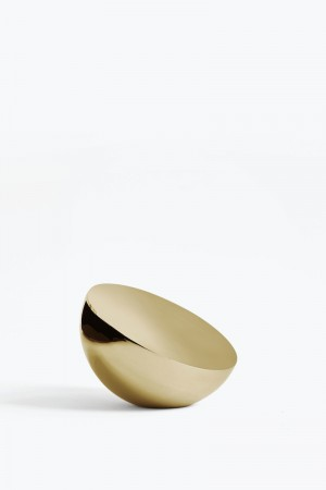 New Works - Aura Table Mirror, Brass