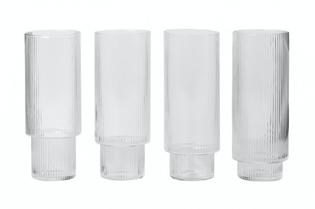 Ferm Living - Ripple Long Drink 4pc
