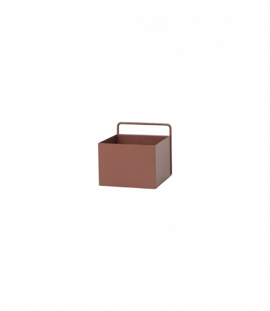 Ferm Living - Wall Box / Red Brown Square