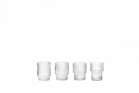 Ferm Living - Ripple Glass 4pk