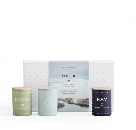 Skandinavisk - Natur Mini Candle Set